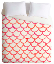 Pink Hues Watercolor Scallop Duvet Cover (Full/Queen) - $44.99