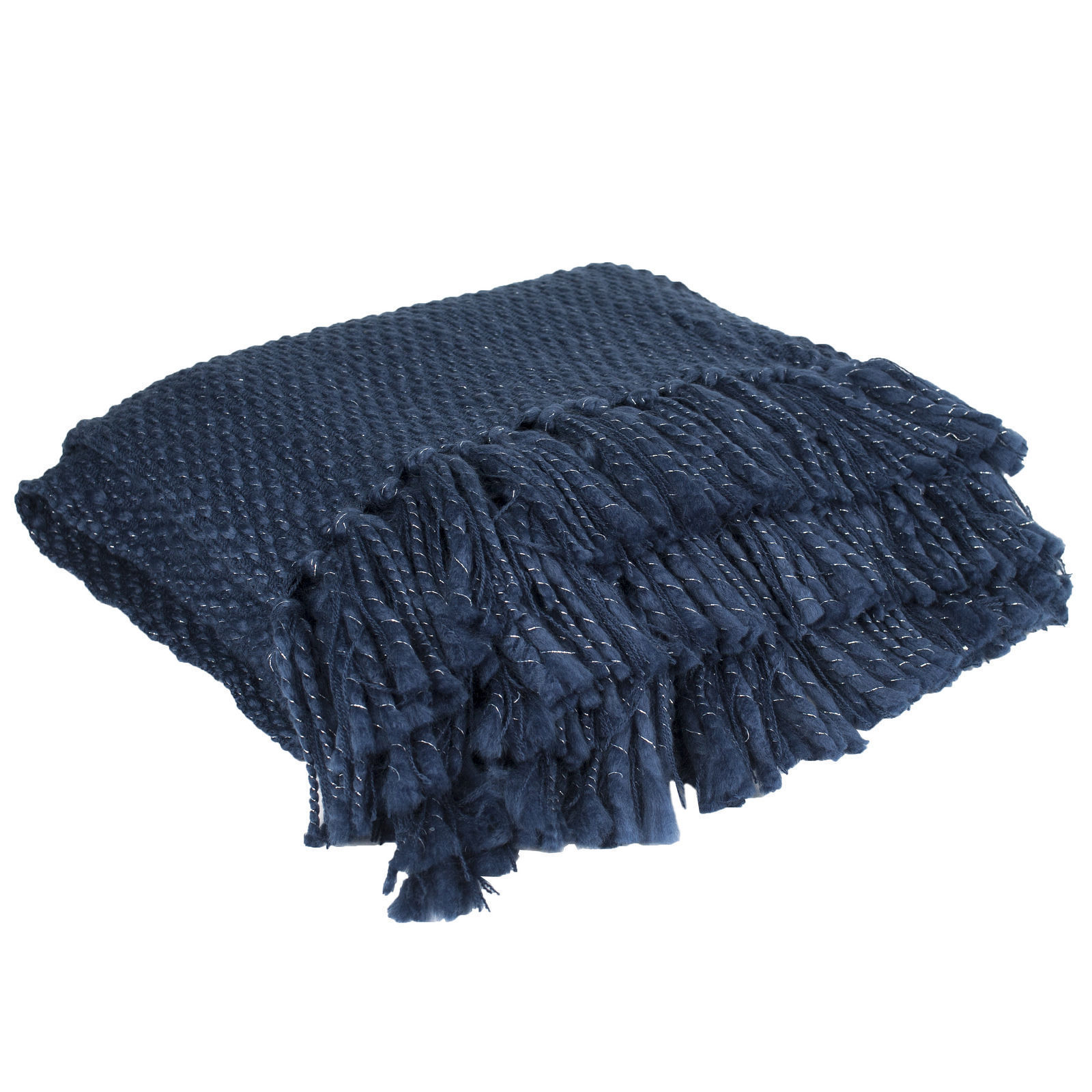 Catalina Blue Knit Throw Blanket