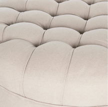 Timberwolf Grey Ottoman (with casters) image 2