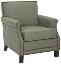 Sage Green Studded Arm Chair image 2