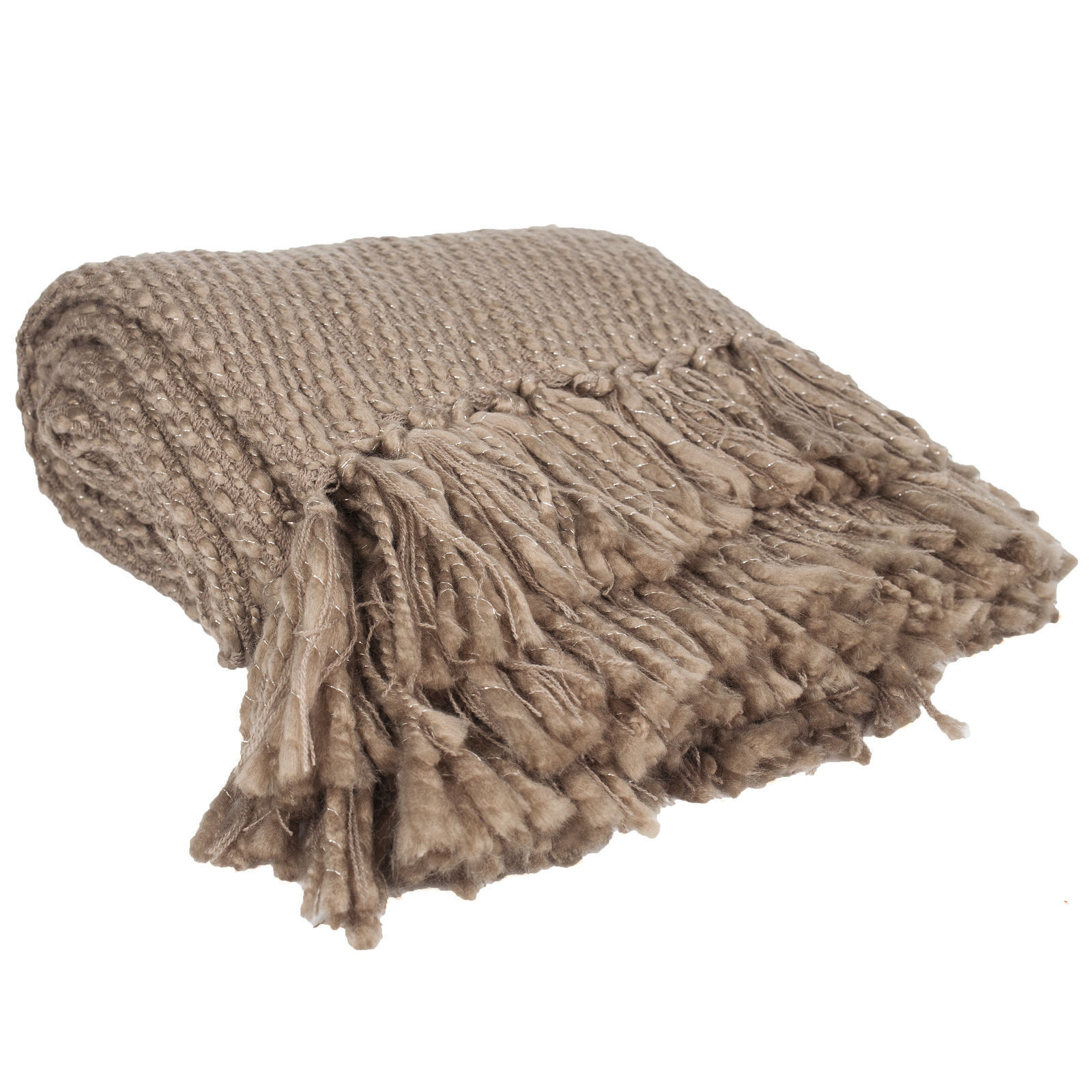 Russet Brown Knit Throw Blanket
