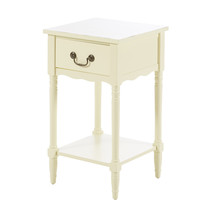 Ivory Scalloped Side Table image 2