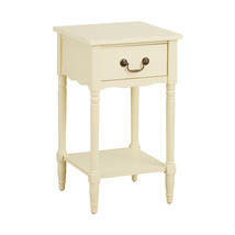 Ivory Scalloped Side Table image 3