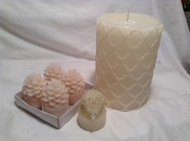 NEW and USED Flameless Winter Candle Set w Real Wax