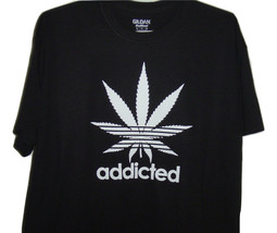 """Funny Black T/shirt """" Addicted with plant"""" all sizes. - $10.99+"""
