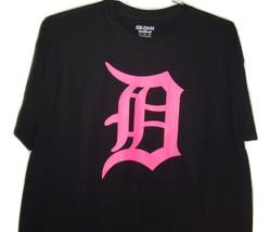 "Detroit funny t/shirt "" Detroit  old english D"" bright pink logo on blac... - $10.99+"