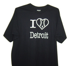 """Detroit  funny T/Shirt black """" I love Detroit """" with heart. all sizes. - $10.99+"""