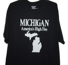 """Detroit funny t/shirt black  """"Michigan state map  the wolvorine state gr... - $10.99+"""
