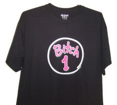 "Funny Black T/Shirt "" BITCH 1 "" Neon pink logo on black t/shirt all sizes. - $10.99+"
