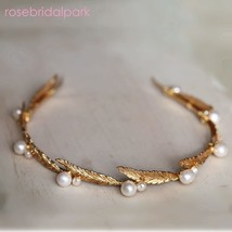 Rosebridalpark Leaf Vintage Gold Bridal Wedding Tiaras and Crowns For Wo... - £33.90 GBP