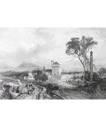ITALY View of Benevento - Fine Quality Vintage ... - $43.56