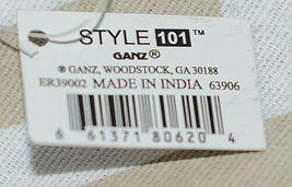 Ganz Brand ER39002 Chevron Design Beige Tan Teal Zipper Makeup Bag image 8