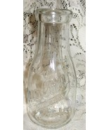 Milk Bottle-Weaver Quality Blue Ribbon Products-Clear Glass-Pint - $10.00
