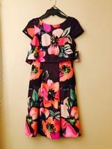 Vince Camuto NEW Purple Floral Print Scuba Women's Size 2 Sheath Dress $148 - $59.39