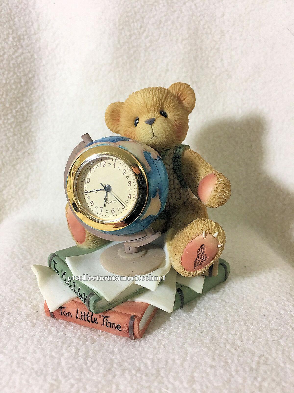Cherished Teddies Clock Too Much Work Too Little Time  2001 NIB - $38.56