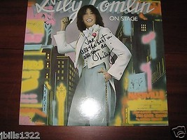 ORIGINAL **LILY TOMLIN SIGNED LP** ON STAGE  - $49.95
