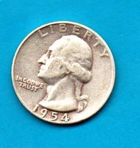 1954 Washington Quarter - Silver - Moderate Wear - $9.00