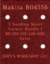 Makita BO4556 - 80/100/150/240/400 Grits - 5 Sandpaper Variety Bundle I - $7.53