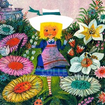 Vintage 1970 Alice in The Garden of Live Flowers Book Art Print MOD Mid ... - $18.90