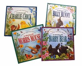 4 Pop-Up Books Adventure with Morris Mouse Charlie Chick Bobby Bear Bill... - $82.90