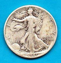 1941 Walking Liberty Half Dollar - Silver - $19.00