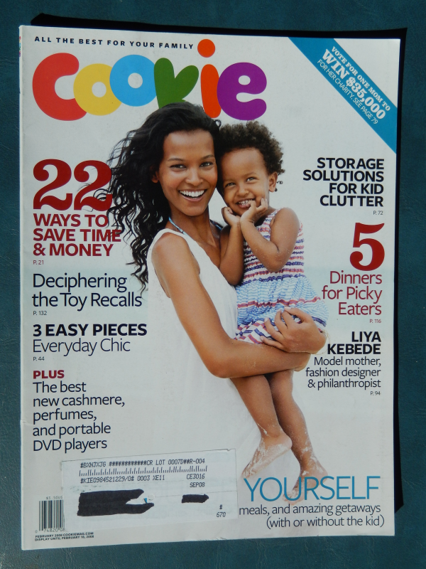 Cookie Magazine February 2008 Liya Kebede