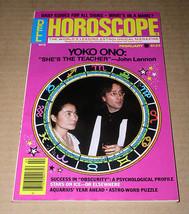 Yoko Ono John Lennon Horoscope Magazine Vintage 1982 - $34.99