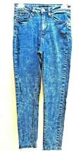 "Forever 21 Acid Wash Blue Jean Capri 00 Small Skinny Denim Size 26.5""x 2... - $7.08"