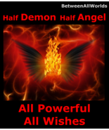 Spr 1/2 Demon 1/2 Angel All Powerful All Wishes Granted & Haunted Money ... - $145.00