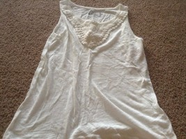mudd ivory tank dressy  Girls size 14 new nwt crochet trim - £7.97 GBP