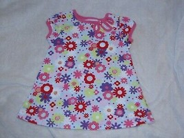 Hanna Andersson Bright Floral Baby Girl Spring/Summer Cotton Dress 3-6 60 - $16.81
