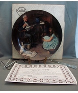 """Norman Rockwell: """"The Storyteller"""" Knowles Porcelain Collector Plate w/ ... - $17.09"""