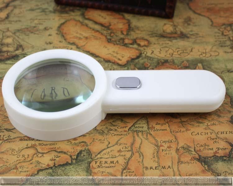 Handheld LED Magnifying Glass with 10x Zoom