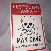 New MAN CAVE Restricted Area Auth Person Double sided Cardboad Sign   6a - $7.13