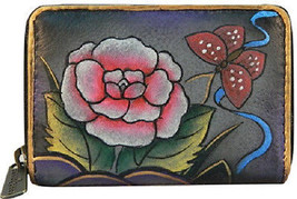 Anuschka Leather _Antique Rose Pewter Credit an... - $41.14