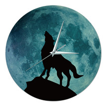 Noctilucent Wolf Simple Wall Clock    wolf - $30.99