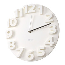 Creative Round Simple 3D Digital Wall Clock   white - $35.99