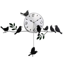 Wall Clock Bird Creative Iron Gift - $30.99