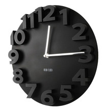 Creative Round Simple 3D Digital Wall Clock   black - $35.99
