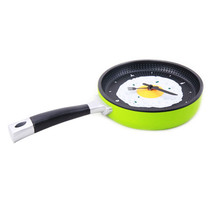 Creative Fried Egg Pan Wall Clock Silent   youthful green - $24.99