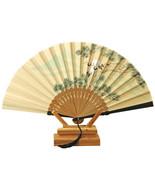 Folding Fan Gentleman Cotton Cloth    pine crane - $10.99