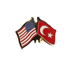 United States Turkey Friendship Lapel Pin - $3.99