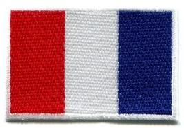 Flag of France French Tricolour embroidered applique iron-on patch new S-98 - £1.57 GBP