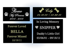 CUSTOM ENGRAVED NAME PLATE - PET LOSS MEMORIAL - CHOOSE SIZE - DOG CAT A... - $18.00