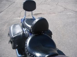 Yamaha 650 V Star Classic or Silverado  or Custom Driver Backrest EZ ON/OFF - $75.00+