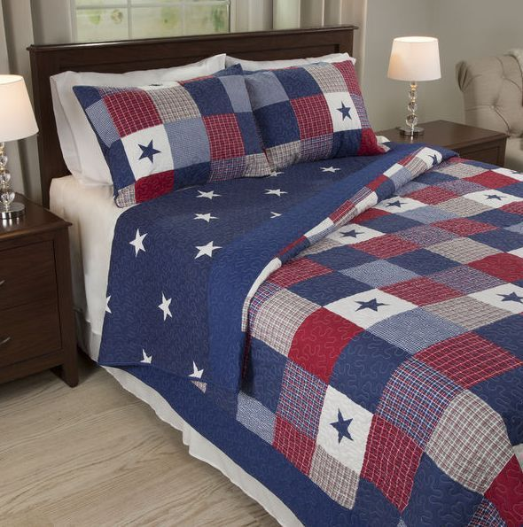 king size bedding sets clearance finely stitched quilt stars plaid for boys new duvet covers. Black Bedroom Furniture Sets. Home Design Ideas