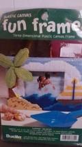 "Bucilla Fun Frames ""Summer Vacation"" Plastic Canvas Kit Size 6.5"" x 5.5""  - $12.19"