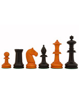 19th Century Antique Austrian Chess Set in Stained Dyed & Antiqued BoxWo... - $244.99