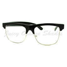 Clear Lens Glasses Square Half Rim Modern Smart Look Eyeglasses - $7.95