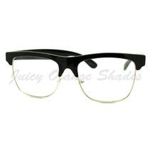Clear Lens Glasses Square Half Rim Modern Smart Look Eyeglasses - $7.15